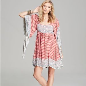 Free People FP - Heart Of Gold Mini Dress Red/Blue